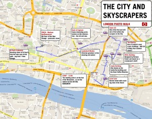 The City and Skyscrapers Map